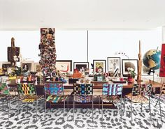 Diane von Furstenberg is routinely perched at the top of our list for just about anything. The designer's uber-fashionable Manhattan penthouse is no exception, playing host to a wild collection of Franz West chairs and enviable art collection. A snow leopard print carpet has never made so much sense  via @MyDomaine