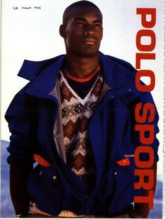 Tyson Beckford for Ralph Lauren Polo Sport, 1996 - for more visit http   6627a19cc2ae