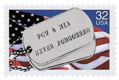"""The Postal Service is proud to announce the issuance of a stamp remembering those that have not returned, and to thank those who endured captivity and came back as heroes ... neither they, nor their deeds must ever be forgotten."" With those words the Postal Service, which is the largest single employer of veterans in the U.S., expressed the gratitude felt by the entire nation for its prisoners of war, or POWs, and those missing in action, or MIAs."