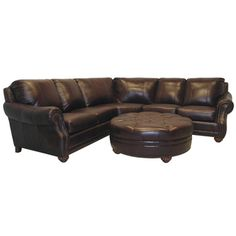 The Troy chestnut brown Italian leather sectional sofa and ottoman are handcrafted using time-honored Old World techniques. This furniture features premium Italian leather and a durable hardwood frame. Buy Living Room Furniture, Furniture Deals, Living Room Sets, New Furniture, Furniture Online, Deep Sectional, Leather Sectional Sofas, Italian Leather Sofa, Leather Ottoman