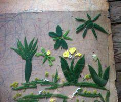Szablon z roślin do serigrafii http://dobrewarsztaty.pl