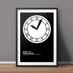 Back to the Future Poster, Movie Poster, Minimalist Poster, Flat Poster Design, Clean Poster Design, Digital Printable Poster
