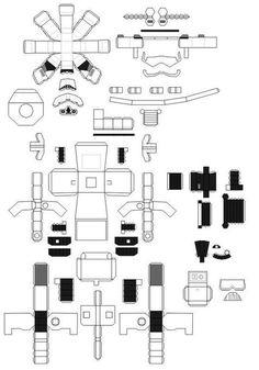 Papercraft de Stormtrooper bricolage | technogad