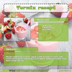 Egy finom és egyszerű eper turmix receptje #turmix #receptek Merida, Cantaloupe, Smoothies, Minden, Fruit, Drinks, Recipes, Foods, Smoothie