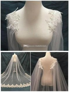 2017 New Shawl Style Bridal Veils Single Layer Long Luxury Shoulder Wedding Veil. 2017 New Shawl Style Bridal Veils Single Layer Long Luxury Shoulder Wedding Veils Beads Lace Bridal Accessories Cheap Wedding Veils - Carolina - Lace Bridal, Bridal Cape, Bridal Gowns, Berta Bridal, Bridal Outfits, Wedding Veils, Wedding Dresses, Wedding Shoes, Tulle Wedding