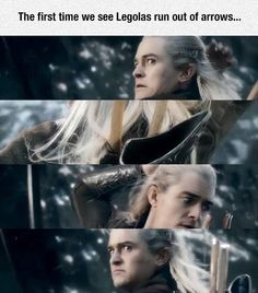 They actually read our blogs! They knew that we laughed at the never ending arrows so they put it in the movie! It is amusing cause in LOTR he never ran out of arrows