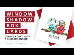 (1050) Window Shadow Box Card - YouTube Shadow Box, Window Shadow, Fun Fold Cards, Folded Cards, Jennifer Mcguire Ink, Spinner Card, Slider Cards, Interactive Cards, Card Tutorials
