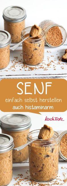 Hausgemachter Senf – Grundrezept – einfache Anleitung zum Selbermachen – bessere Verträglichkeit, histaminarm, fructosearm, viele Varianten