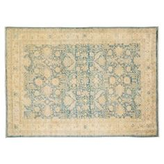 "Check out this item at One Kings Lane! 5'9""x8'1"" Musina Rug, Light Blue"