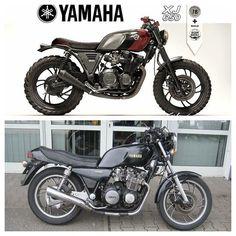 26 Ideas Brat Motorcycle Style Motorbikes For 2019 Brat Bike, Tracker Motorcycle, Cafe Racer Motorcycle, Motorcycle Design, Motorcycle Style, Yamaha Cafe Racer, Xj Yamaha, Moto Cafe, Cafe Racer Build