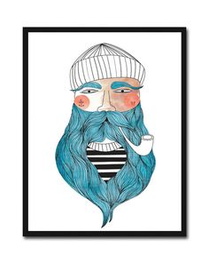 CUSTOM Illustration Giclee Print Fisherman by ParadaCreations, $26.00