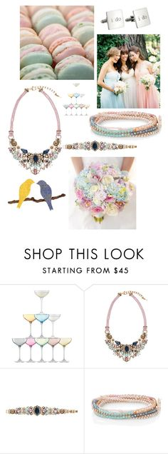 Parisian Belle Wedding by sitkajewels on Polyvore featuring Chloe + Isabel, Cufflinks, Inc., LSA International, Donna Morgan and Chloé