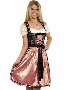 Mini Dirndl Dayana (schwarz/lachs/rose) - Krüger Feelings