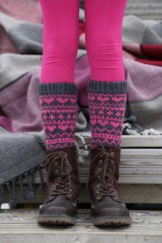 Pizzicato: Sydänsukat Knitting Socks, Knit Socks, Leg Warmers, Wool, Pattern, Addiction, Fashion, Leg Warmers Outfit, Moda
