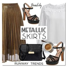 """Hot NYFW Runway Trend"" by mada-malureanu ❤ liked on Polyvore featuring NYFW, pleatedskirts and dresslily"