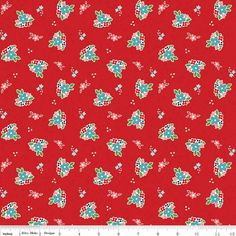 Country Girls Fabric Floral Red from Riley by 44thStreetFabric