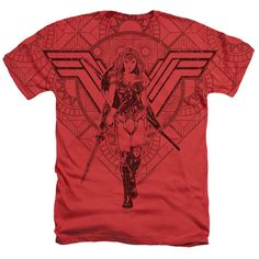 Wonder Woman Movie - Shield Heather T-Shirt Officially Licensed Wonder Woman Movie Logo Merchandise. This Wonder Woman Movie - Shield Design is available on many different styles and sizes. Nerdy Shirts, Cool T Shirts, Tee Shirts, Wonder Woman Movie, Wonder Woman Logo, Shield Design, Comic Books, T Shirts For Women, Movies