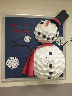 Let it Snow Bulletin Board #LetItSnow #Snowman #BulletinBoards