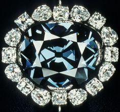 hope diamond....46 carats of deep blue....stunning