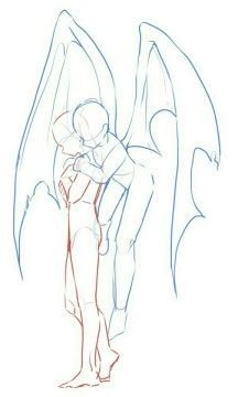poses drawing sketching reference fantasy angel demon two people embrace hugging flyin. drawing sketching reference fantasy angel demon two people embrace hugging flying couple wings Drawing Base, Manga Drawing, Figure Drawing, Boy Drawing, Sketch Art, Drawing Sketches, Art Drawings, Drawing Tips, Fantasy Drawings