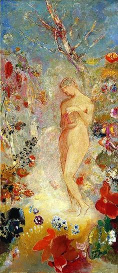๑ Nineteen Fourteen ๑ historical happenings, fashion, art & style from a century ago - Pandora, ca. 1914, Odilon Redon