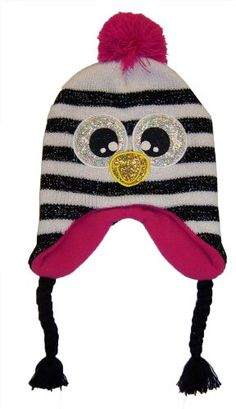 Girls Critter Penguin Face Scandi Hat [4010]
