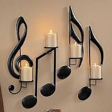 Candle sconces make unique wall decor! Browse our wall candle sconces, decorative wall sconces and candle wall decor. All yours with online credit! Piano Design, Music Notes, Home Decor Accessories, My Room, Candle Sconces, Living Room Decor, Living Rooms, Piano Room Decor, Musicals