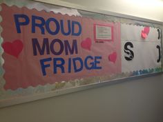 RA Bulletin Board #proudmomfridge #interactivebulletinboard #ra