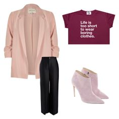 pink & black by artloginovs on Polyvore featuring мода, River Island, Joseph and Ralph Lauren