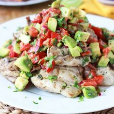 30-Minute Cilantro Lime Chicken with Avocado Salsa. Tender, juicy and all from scratch under 30!