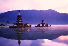 Pura Ulun Danu temple on the edge of Lake Bratan in Bali, Indonesia.    Photo by Stefano Paganelli