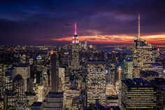https://flic.kr/p/D7bKx5 | Purple night over New York