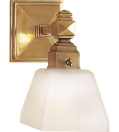 Visual Comfort E.F. Chapman Normandie 1 Light Bath Wall Light in Antique-Burnished Brass CHD1541AB-FG #visualcomfort