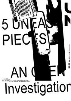 5 uneasy pieces, an open investigation. Exhibition at Umprum.cz w/ Jakub Samek
