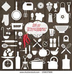 restaurant vector - Kitchen set icon. by Olga Milagros, via Shutterstock