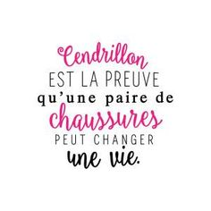 Sticker mural Cendrillon Noir et fuchsia 60 x 60 cm Plus Funny Quotes, Life Quotes, Quote Citation, French Quotes, Positive Attitude, Cool Words, Sentences, Quotations, Affirmations