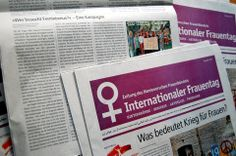 """Die Zeitung des Hannoverschen Frauenbündnis zum internationalen Frauentag am 08.03.2014 gibt es nun schon und """"Wer braucht Feminismus?"""" ist mit einem Artikel dabei :) http://werbrauchtfeminismus.de/presse/"""