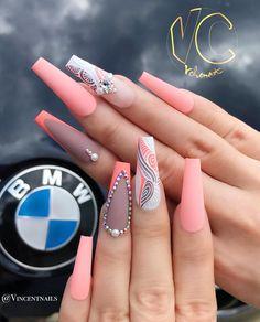 Car or Nails? Car or Nails? Dope Nails, Bling Nails, Stiletto Nails, My Nails, Fabulous Nails, Gorgeous Nails, Pretty Nails, Classy Nails, Stylish Nails