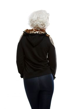 The Midnight Prowler Zip Sweatshirt with Faux Fur Lined Hood and Cut out Shoulders by Lucky 13