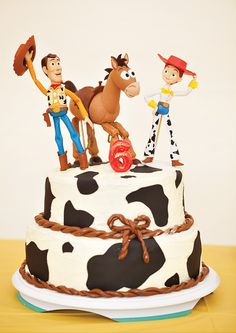 Jessie the Cowgirl Themed Birthday {Toy Story Party - Toys for years old happy toys Woody Birthday Parties, Woody Party, Toy Story Birthday Cake, Cowboy Birthday Party, Cowgirl Party, Pirate Party, 3rd Birthday, Birthday Ideas, Jessie Toy Story