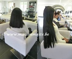 Before & after : perfect black extra long XL hair extensions created by our hairextensions team @MaisonMaite www.maisonmaite.com #GreatLengths #Hollywoodlook #Hollywoodhair #Celebrityhair
