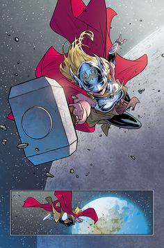 Russell Dauterman is an illustrator and character designer, best known as the artist of the Marvel comic book series, THE MIGHTY THOR. Marvel Comic Character, Comic Book Characters, Marvel Characters, Comic Books Art, Comic Art, Book Art, Marvel Comic Universe, Marvel Comics Art, Comics Universe