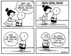"""Da """"Arriva Charlie Brown"""", primo libro dei Peanuts (C. M. Schulz) pubblicato in Italia nel 1963."""