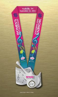 Finisher's medal for 2012 Nashville Women's Half Marathon - 1 more week!