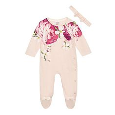 Baby & Toddler Clothing Ted Baker Bunny Print Baby Grow Size 6-9 Months Frill Collar Pink Top Easter One-pieces