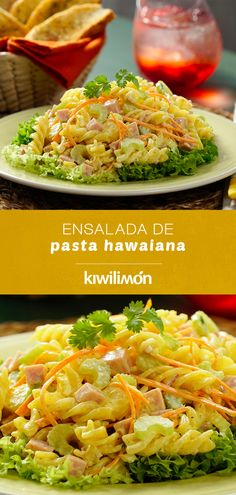 Ensalada de Pasta Hawaiana - Nutritious Tutorial and Ideas Seafood Recipes, Gourmet Recipes, Pasta Recipes, Mexican Food Recipes, Vegetarian Recipes, Cooking Recipes, Healthy Recipes, Vegan Vegetarian, Pasta Facil