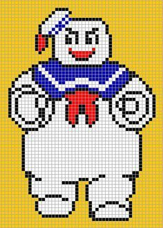 big pixel art template | Stay Puft Marshmallow Man More