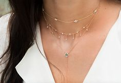 14kt gold and diamond blossom choker necklace – Luna Skye by Samantha Conn