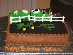 How to Make Cow Cupcakes & Cow Cakes Tractor Birthday Cakes, Farm Birthday Cakes, Toddler Birthday Cakes, 2nd Birthday, Tractor Cakes, Birthday Banners, Birthday Invitations, Birthday Ideas, Birthday Parties