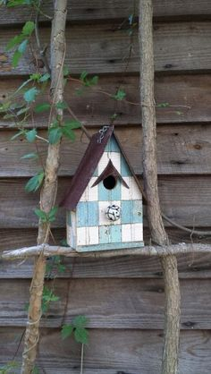 1800's patchwork.... grama would be proud to own this birdhouse